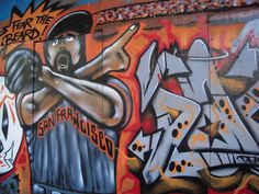 I saw this being spray painted in North Beach after the Giants won the world series :)