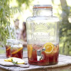 My new fav...can't wait to use it! 8 Litre Large Kilner Clip Top Storage Drink Wine Beverage Dispenser Jar With Tap