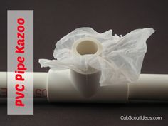 PVC Pipe Kazoo - Simple and quick!  Could have pieces pre cut or boys could measure and use a pipe cutter!