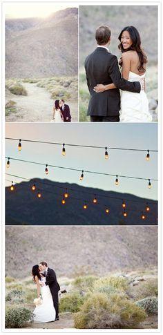 Rustic palm springs wedding