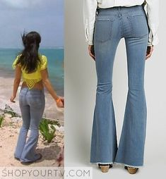 What I really want is the top! Denim Flare Jeans, Denim Flares, Boho Style, My Style, Boho Fashion, Fashion Outfits, Brie Bella, Denim Shop, Total Divas