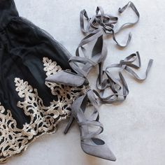 classic pointed toe suede wrapped heels - more colors - shophearts - 1