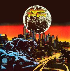 Vintage Album Art Thin Lizzy Nightlife Album Cover Print   - Psychedelic Underground 1970s club vibe