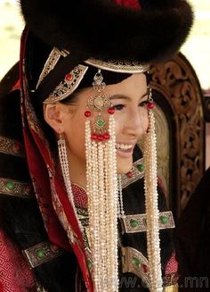 Portrait of a Mongolian woman   Photographer ?