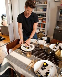 Create a Placesetting for Setting a Table with Nate Berkus - How to Set a Table with Nate Berkus - ELLE DECOR