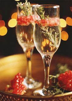 champagne pomegranate rosemary