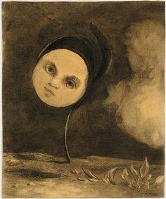Strange Flower; Little Sister of the Poor- By Odilon Redon