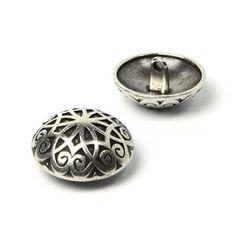 Trachtenknopf Ornament 1 (15) - Metall - silber