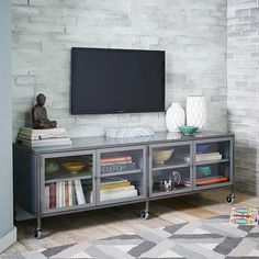 Industrial Metal Media Console - Large | West Elm