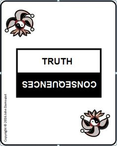 TRUTH OR CONSEQUENCES CARD DECK