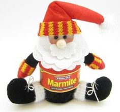 New Zealand Marmite Christmas Ornament.  A must have for Xmas 2012! After the earthquake in Christchurch the marmite factory was damaged and there was a shortage nationwide - It is great to see it is available to spread your toast with on Christmas day...