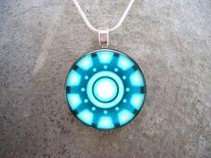 Iron Man Marvel Jewelry GLASS photo pendant by SolasJewelry, $10.00