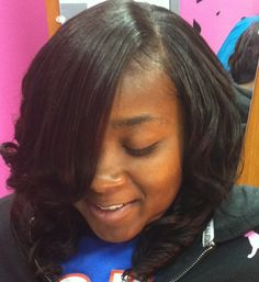 Sew in with ruby remy brizilian human hair