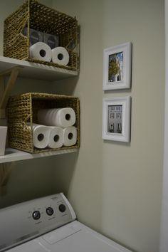 Paper towel / toilet paper pretty storage