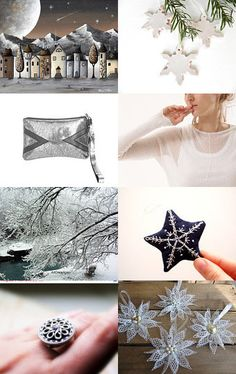 White Christmas finds! by Pepa Moyano on Etsy--Pinned with TreasuryPin.com