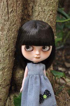 Custom Icy Doll Short Black Hair with Fringe Bangs | eBay