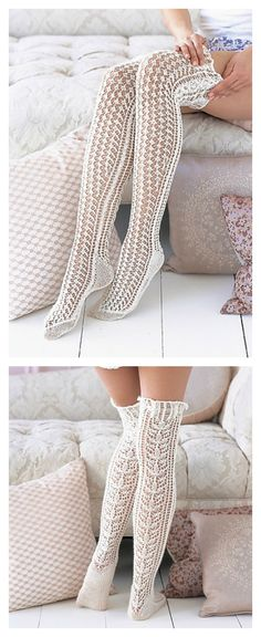 Lace Stockings Knitting Pattern