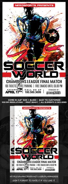 Soccer Tournament Flyer Design Design Pinterest Flyer Template