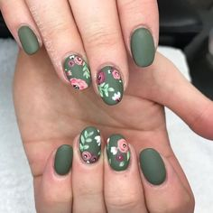 101 cute nail art designs for short nails 2019 page 30 cute nail art - Nail Art Trendy Nails, Cute Nails, My Nails, Hair And Nails, Fall Nails, Summer Nails, Cute Nail Art Designs, Nail Designs Spring, Nail Designs Floral