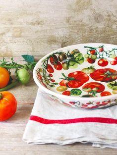 Emma Bridgewater's Vegetable Garden pattern: Tomatoes pasta bowl