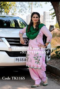 Embroidery Suits Punjabi, Embroidery Suits Design, Embroidery Dress, Designer Punjabi Suits Patiala, Patiala Salwar Suits, Punjabi Suit Boutique, Boutique Suits, Kurti Neck Designs, Blouse Designs