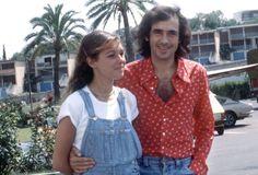 Joan Manuel Serrat y su esposa Candelaria Tiffón, en los 70. De la nota Joan Manuel Serrat, su loro Matías y sus mujeres.
