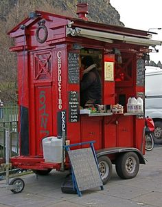 The little red coffee cart