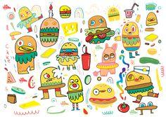 jon-burgerman-burgermen.jpg 1.000×709 pixels