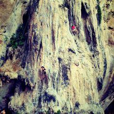 climb phra nang beach