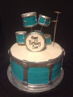 drum cake for jimmy Drum Cake, Guitar Cake, Cake Cookies, Cupcake Cakes, Cupcakes, Retirement Party Cakes, Music Cakes, Cakes For Boys, Love Cake