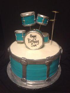 drum cake for hunter
