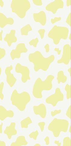 Yellow Cowprint Wallpaper