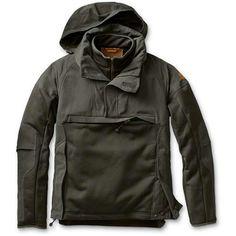 Eddie Bauer Hunter Pullover Wax Cotton cargo pocket on chest, hand warmer side stash