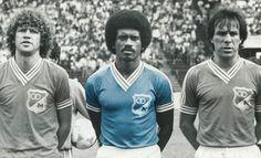 """Abril de 1985: Peluffo, Iguarán y el """"Cheché"""" Hernández. """"El embajador"""" ya se preparaba para un nuevo título."""