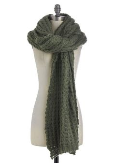 Cozy and Effect Scarf in Sage, #ModCloth