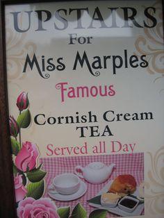 The Tea Gastronomer: Miss Marple's Tea Room, East Looe, Cornwall, England