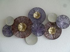 Wanddecoratie metaal Meander Purple - ABSTRACT - DEKOGIFTS Hand Fan, Home Appliances, Abstract, House Appliances, Summary, Appliances