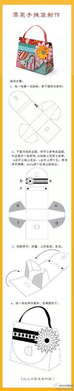 een cadeau-tas vouwen van papier LEUK!!Purse Box Template | purse box template - bjl