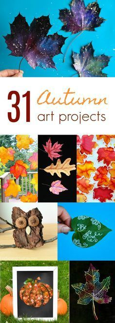 Autumn is a perfect time for making crafts with kids, and with 31 art projects in this collection, you will have enough to last you a full month! art for teens 31 Art Projects for Children to Make in the Fall Arts And Crafts For Teens, Art And Craft Videos, Easy Arts And Crafts, Fall Crafts For Kids, Crafts For Girls, Holiday Crafts, Art For Kids, Children Crafts, Art Children