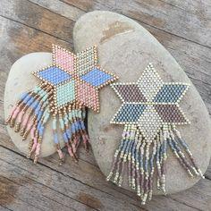 Long Tassel Earrings, Seed Bead Earrings, Beaded Earrings, Stitch Crochet, Brick Stitch Earrings, Beadwork Designs, Seed Bead Patterns, Peyote Beading, Bijoux Diy