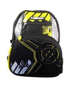 Kids-Backpacks-Nerf-Strike-Black-and-Yellow-Backpack
