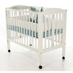 Dream On Me 2-in-1 Folding Portable Crib, White - Walmart.com