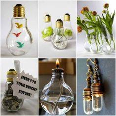 Artesanato com lâmpadas queimadas 013