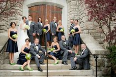 Erin Volante Floral: Navy and Chartreuse Wedding