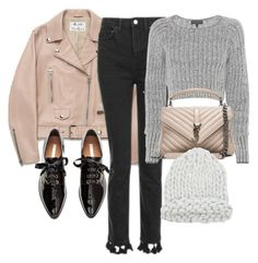 """""""Untitled #11318"""" by minimalmanhattan ❤ liked on Polyvore featuring Acne Studios, Topshop, rag & bone and Yves Saint Laurent"""