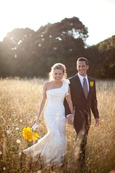 love how happy they look! via http://www.elizabethannedesigns.com/blog/2012/04/19/elegant-yellow-white-farm-wedding/ Photography by Samuel Lippke