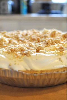 Mrs. Salter's Peanut Butter Pie Recipe - no bake & only 5 ingredients!