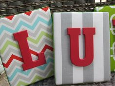 Gray Chevron Letters, 8x10  Nursery Letters, Wall Letters, Framed Monogram, Painted Letters, Wood Letters, Personalized, Monogram