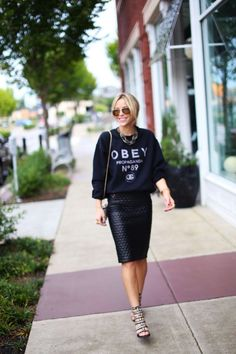 blog nem só de moda - saia lápis