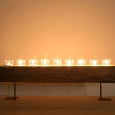 Katigi Designs Reclaimed-Wood Candle Holder Stand #LiquidGoldSalvagedWood
